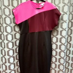 New York & Company color block popover dress